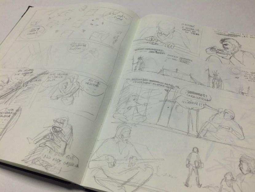 bocetos páginas 6 y 7b