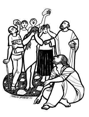 Evangelio según san Juan (8,1-11), del domingo, 13 de marzo de 2016