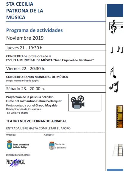 Programa de Actos. Santa Cecilia 2019