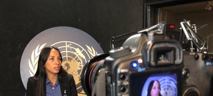 Evelina Cabrera durante la entrevista con Noticias ONU