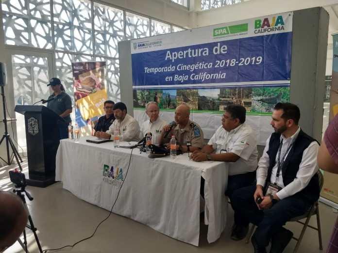 Rueda de prensa en Mexicali