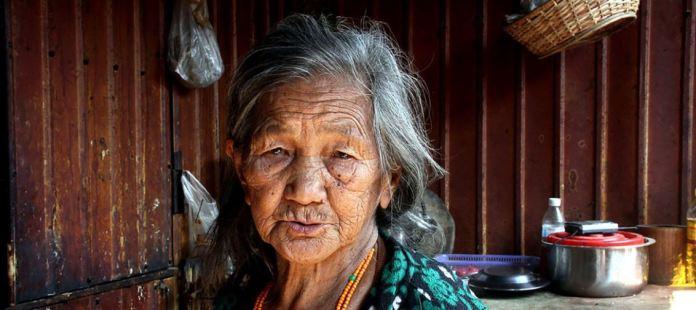 Mujer de Myanmar