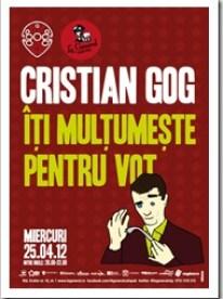 Cristian Gog te invita sa ciocnesti un pahar de multumire pentru votul acordat
