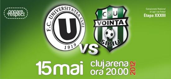 U Cluj vs Vointa Sibiu
