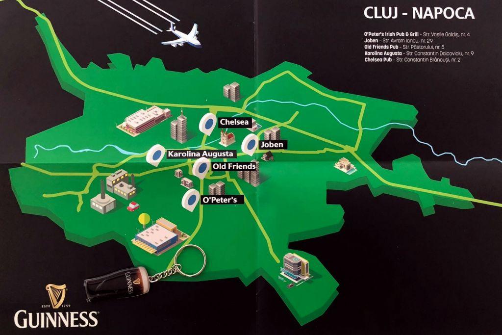 Harta Guinness Cluj