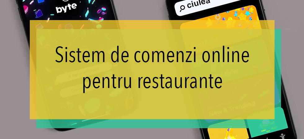 Sistem de comenzi online pentru restaurante