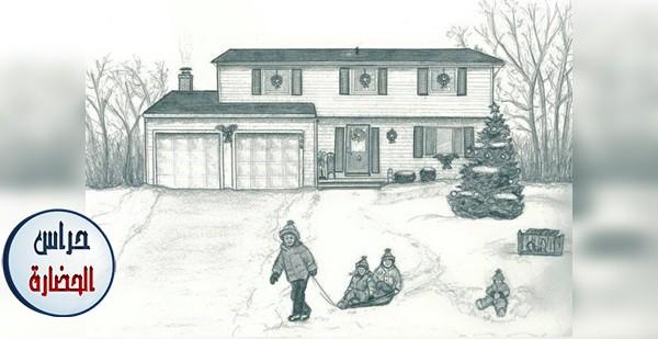 خاطرة العائلة الدافئة بين الثلوج