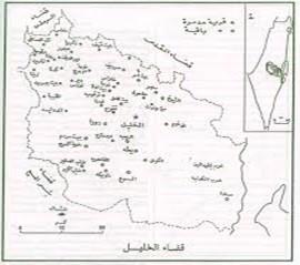 خريطة مناطق بنو يعقوب او بنى إسرائيل