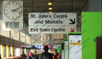 Preston bus station clocks