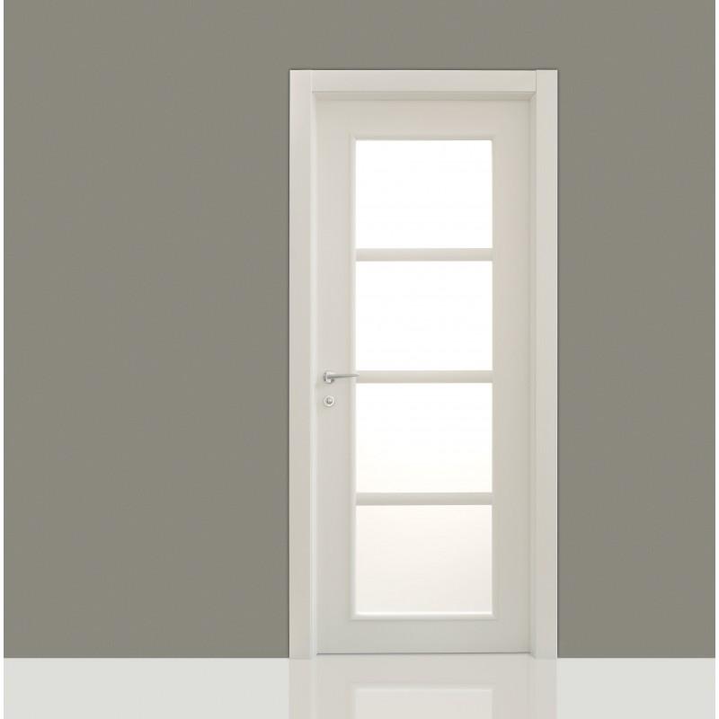 Porte interne Mark 164 laccato poro aperto con vetro  Civico14  Porte interne e sicurezza casa