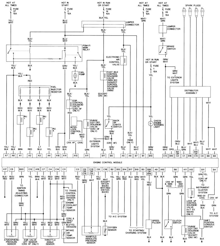 hight resolution of 1990 civic wiring diagram wiring diagram operations 1990 honda crx stereo wiring diagram 1990 honda crx fuse diagram
