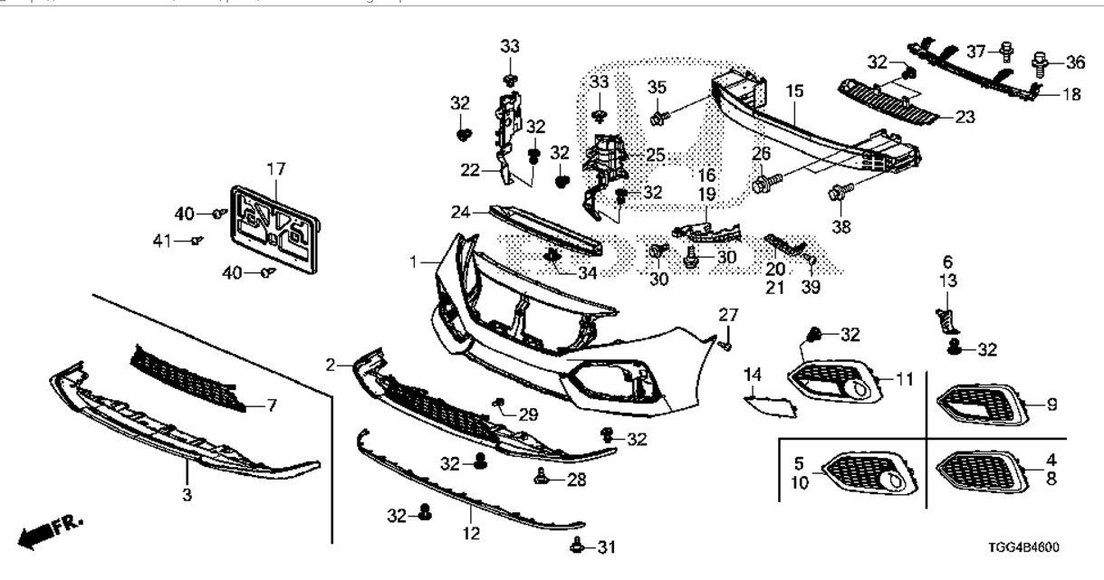 Hatckback autoparts available for purchase on Honda ESTORE