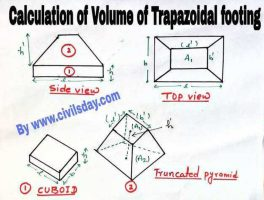 volume of trapezoidal footing