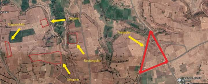calculate area of land