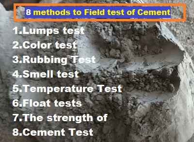 Field test of Cement