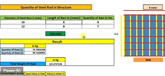 Steel calculation formula in excel - 100% Free Download