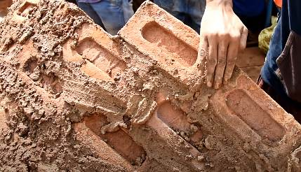 Brick work in Mud mortar