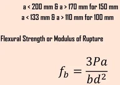 Flexural strength formula