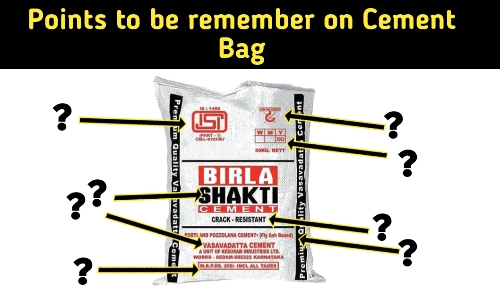 Point to be remember on cement bag