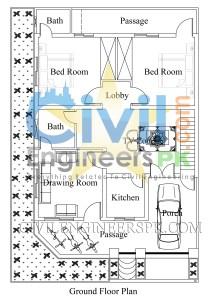 8 Marla House Plans Ground Floor and First Floor