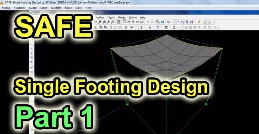 Safe Single Footing Design Video Tutorials