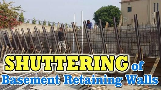 Shuttering of Basement RCC Walls