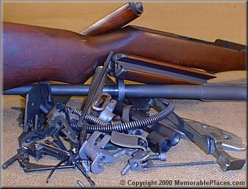 m1 rifle diagram cat5 wall plate wiring reassembly of the garand
