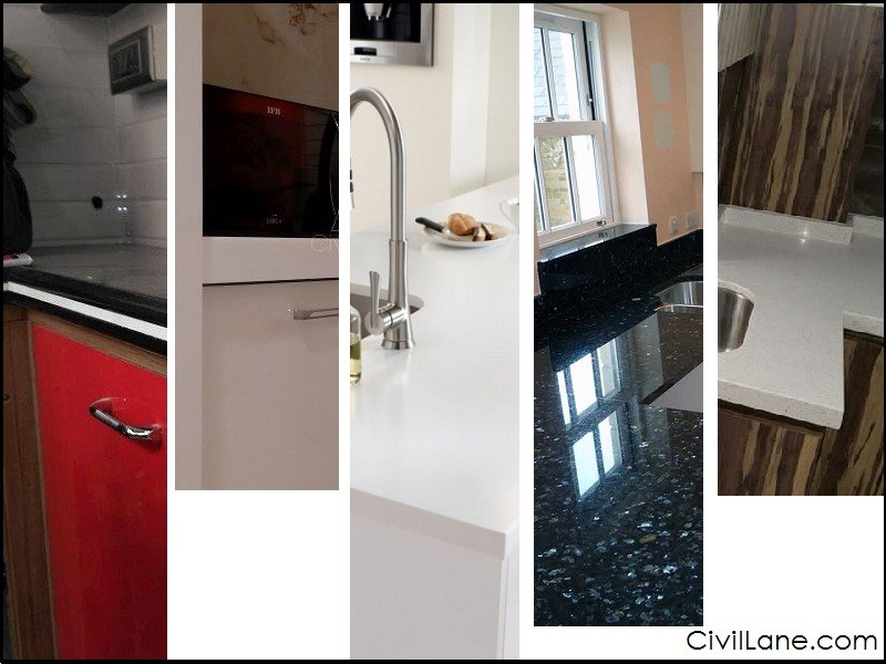 Admirable Top 5 Kitchen Countertop Materials In India Civillane Complete Home Design Collection Lindsey Bellcom