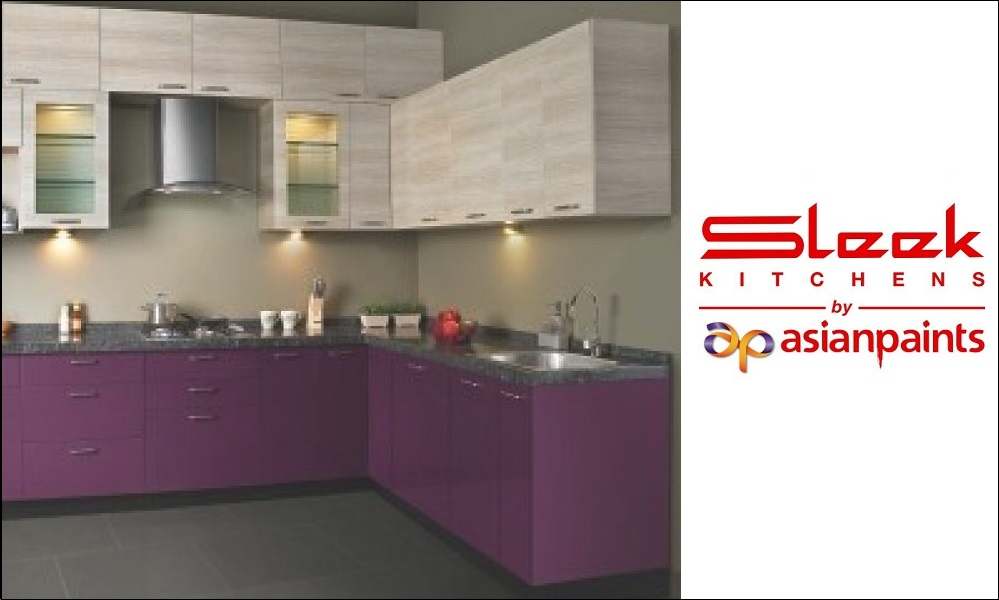 Sleek Modular Kitchen Asian Paints