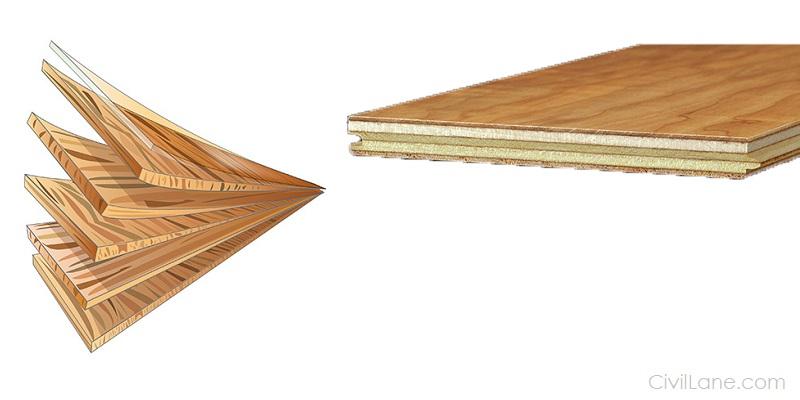 Engineered wood flooring sample