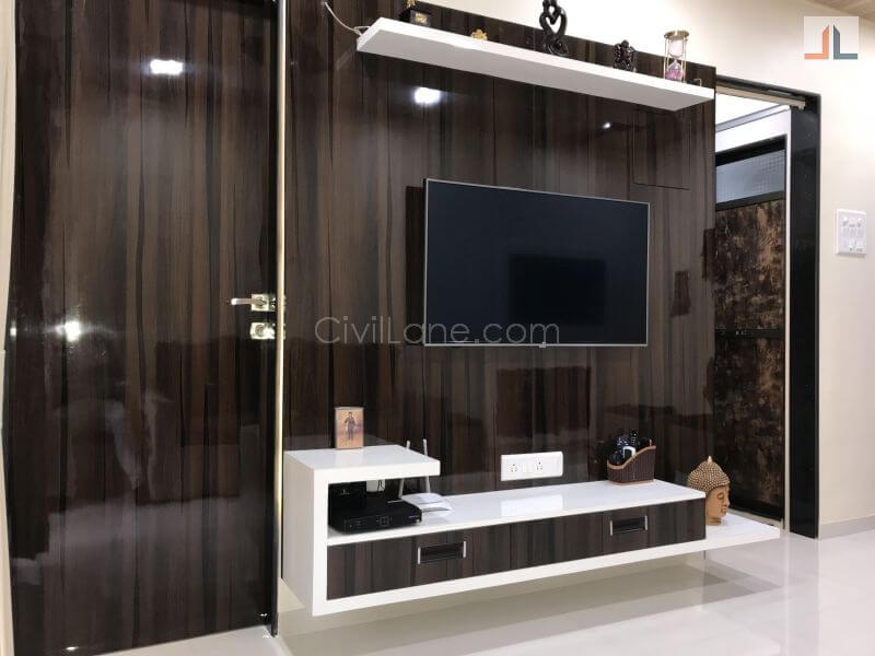 TV Unit Designs For Small Apartments In Mumbai 1BHK 1RK