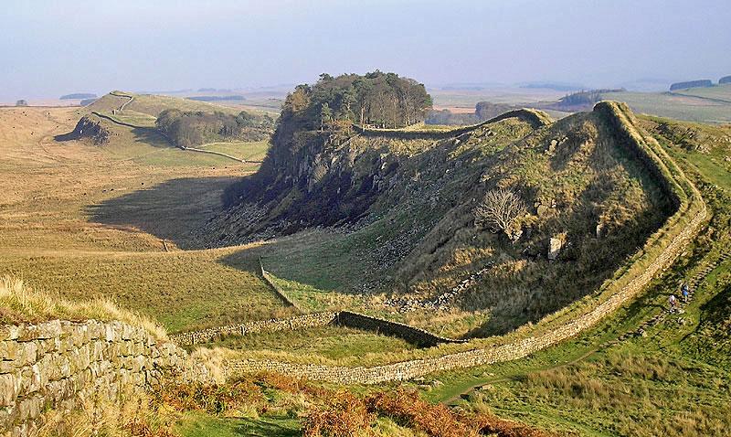 Hadrian's Wall, Northumberland, England.