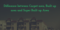 Difference between Carpet area, Built up area and Super ...