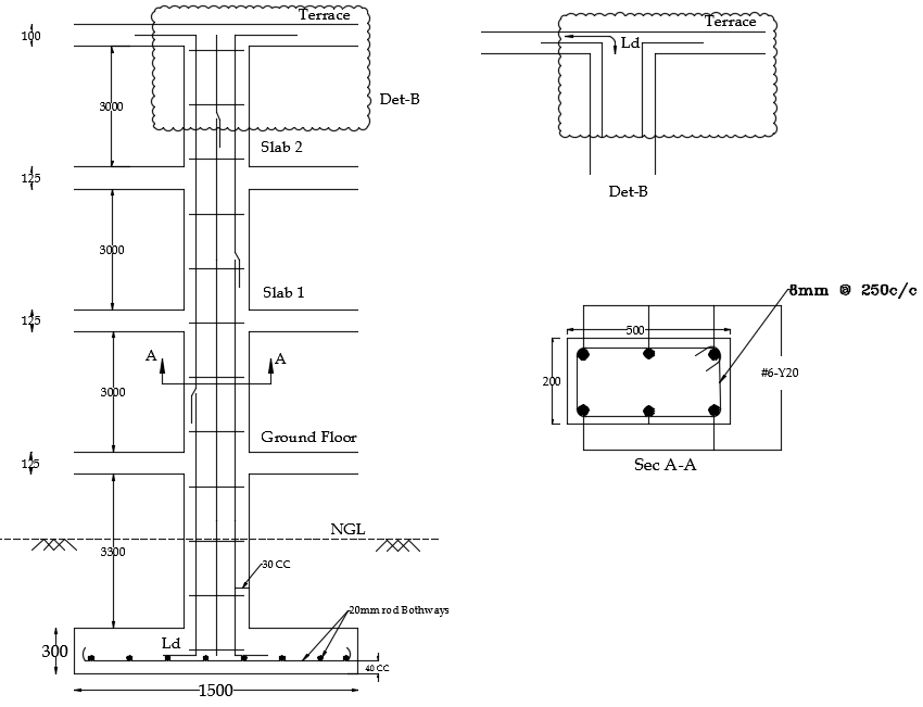 Reinforcement Details of Column