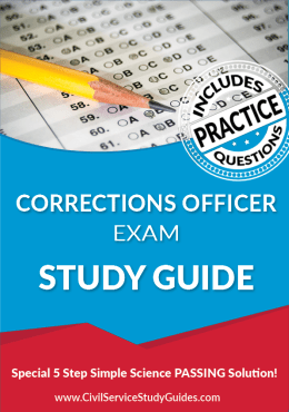 Corrections Officer Exam Study Guide Practice Test Book