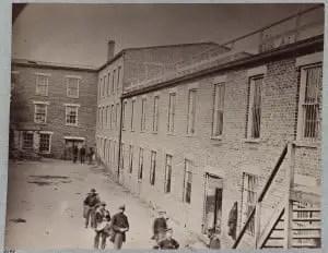 Castle Thunder Prison Courtyard, Richmond Virginia 1865