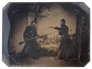 Civil War Soldier with Bayonet