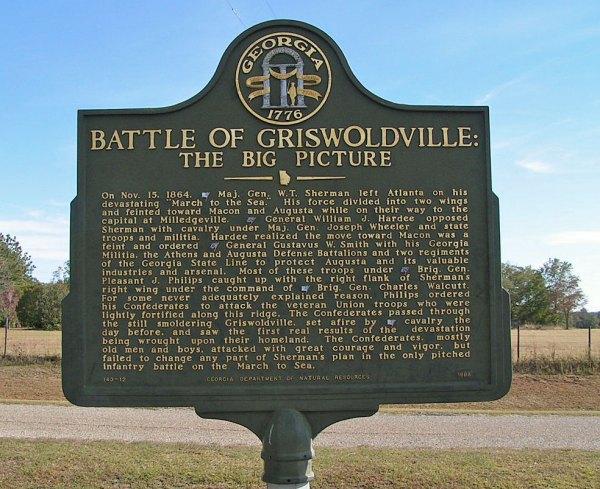 Battle of Griswoldville Georgia Civil War
