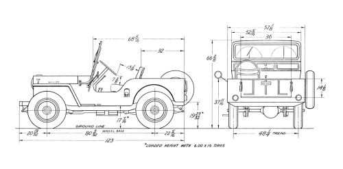 small resolution of willy cj2 jeep wiring diagram