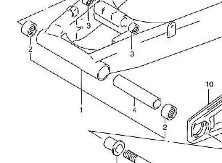 Suzuki GSF600 GSF1200 Bandit Swing Arm Needle Pivot