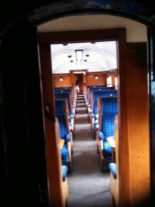 On board a Severn Valley Train Carriage