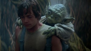 Luke and his wizened wise mentor.