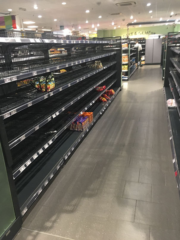 """sixpenceee: """"When customers walked into Edeka supermarket in Hamburg recently, they were surprised to find that the shelves were almost empty, and the small handful of products that remained were all made in Germany. It seemed like the supermarket..."""
