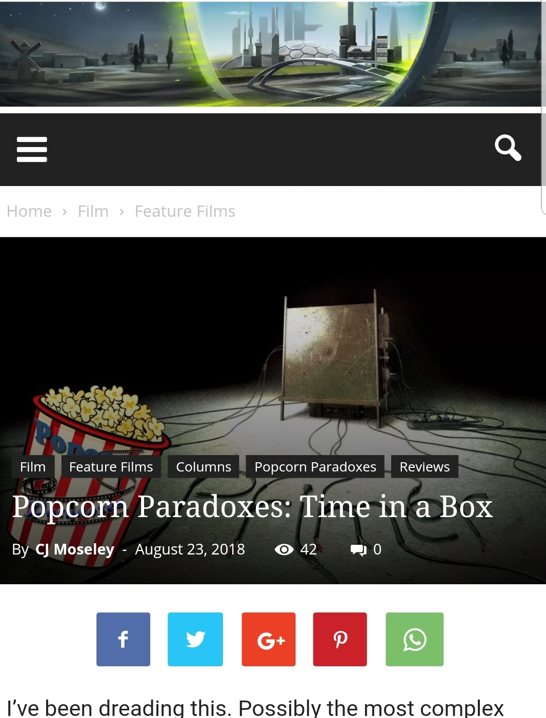 Popcorn Paradoxes post at the Time Travel Nexus