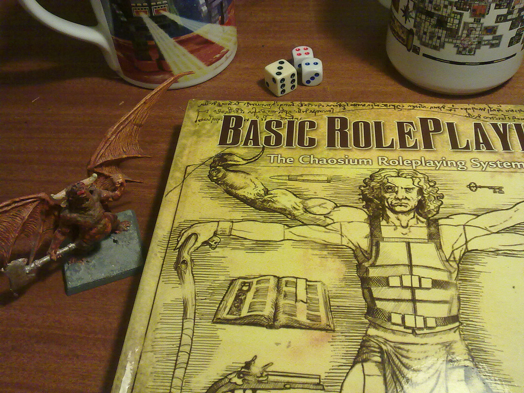 "oldschoolfrp: ""adventuresandshopping: ""As a lover of older systems, I'm finding Chaosium's Basic Roleplaying a real joy to read. The settings potential is truly inspiring. Time to mix up some genres! "" A PDF of the BRP Quick-Start rules can be..."