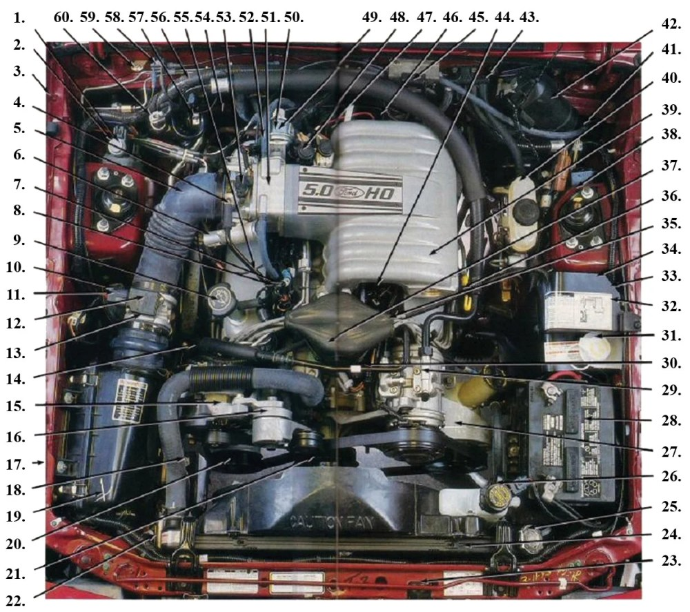 medium resolution of fox body engine compartment diagram