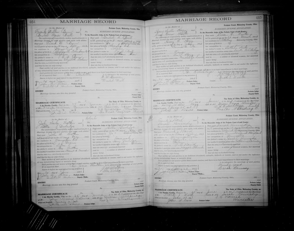 Just Found: Marriage Record For My Kennedy Great-Grandmother And Her First Husband