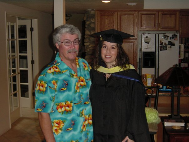 Colleen Robledo & Dad Graduation
