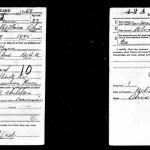 WWI Draft: Step-Great Grandfather Frank J Ward