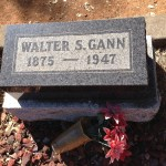 #52Ancestors: Headstone for Walter Scott Gann (1875-1947) Prompts Me to Learn More